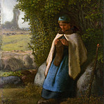 Metropolitan Museum: part 1 - Jean-François Millet - Shepherdess Seated on a Rock