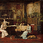 The Music Room, Michel (Mihaly) Lieb Munkacsy