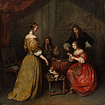 The Card Party, Caspar Netscher