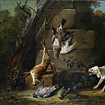 Jean Baptiste Oudry – Dog Guarding Dead Game, Metropolitan Museum: part 1