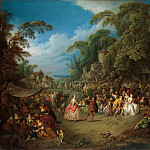 Jean Baptiste Joseph Pater – The Fair at Bezons, Metropolitan Museum: part 1