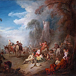 Metropolitan Museum: part 1 - Jean Baptiste Joseph Pater - Troops at Rest