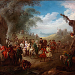 Jean Baptiste Joseph Pater – Troops on the March, Metropolitan Museum: part 1
