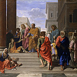 Nicolas Poussin – Saints Peter and John Healing the Lame Man, Metropolitan Museum: part 1