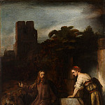 Metropolitan Museum: part 1 - Attributed to Rembrandt - Christ and the Woman of Samaria
