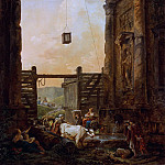 Metropolitan Museum: part 1 - Hubert Robert - The Return of the Cattle