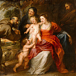 Peter Paul Rubens - The Holy Family with Saints Francis and Anne and the Infant Saint John the Baptist, Metropolitan Museum: part 1