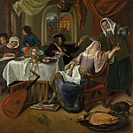 The Dissolute Household, Jan Havicksz Steen