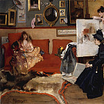 In the Studio, Alfred Stevens