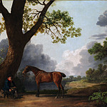 Metropolitan Museum: part 1 - George Stubbs - The Third Duke of Dorset's Hunter with a Groom and a Dog
