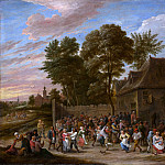 Peasants Dancing and Feasting, David II Teniers