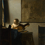 Metropolitan Museum: part 1 - Johannes Vermeer - Woman with a Lute