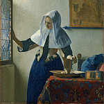 Young Woman with a Water Pitcher, Johannes Vermeer