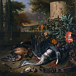 Metropolitan Museum: part 1 - Jan Weenix - Gamepiece with a Dead Heron (Falconer's Bag)