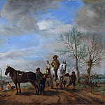 A Man and a Woman on Horseback, Philips Wouwerman