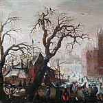 Metropolitan Museum: part 1 - Christoffel van den Berghe - A Winter Landscape with Ice Skaters and an Imaginary Castle