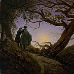 Two Men Contemplating the Moon, Caspar David Friedrich
