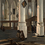 Emanuel de Witte – Interior of the Oude Kerk, Delft, Metropolitan Museum: part 1