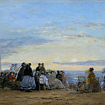 On the Beach, Sunset, Eugene Boudin
