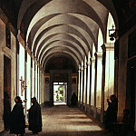 Metropolitan Museum: part 1 - François-Marius Granet - Monks in the Cloister of the Church of Gesù e Maria, Rome
