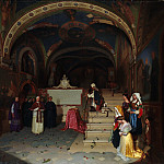 Metropolitan Museum: part 1 - Jean-François Montessuy - Pope Gregory XVI Visiting the Church of San Benedetto at Subiaco