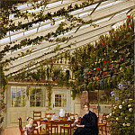 The Family of Mr. Westfal in the Conservatory, Eduard Gaertner