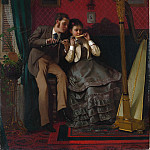 Metropolitan Museum: part 1 - John George Brown , Durham 1831–1913 New York City) - The Music Lesson