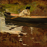 Metropolitan Museum: part 1 - William Merritt Chase - Mrs. Chase in Prospect Park