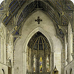 Metropolitan Museum: part 1 - John William Hill - Chancel of Trinity Chapel, New York