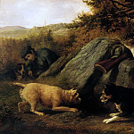 Metropolitan Museum: part 1 - Thomas Hewes Hinckley - The Rabbit Hunters