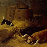 Metropolitan Museum: part 1 - Thomas Hewes Hinckley - Rats amongst the Barley Sheaves