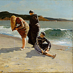 Metropolitan Museum: part 1 - Winslow Homer - Eagle Head, Manchester, Massachusetts (High Tide)