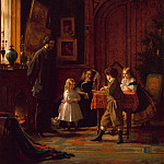 Eastman Johnson – Christmas-Time, The Blodgett Family, Metropolitan Museum: part 1