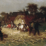 Eastman Johnson – Corn Husking at Nantucket, Metropolitan Museum: part 1