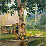Portrait of Faase, the Taupo, or Official Virgin, of Fagaloa Bay, and Her Duenna, Samoa, John La Farge