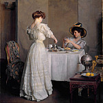 William McGregor Paxton – Tea Leaves, Metropolitan Museum: part 1