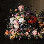Severin Roesen – Still Life: Flowers and Fruit, Metropolitan Museum: part 1