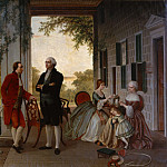 Metropolitan Museum: part 1 - Thomas Pritchard Rossiter - Washington and Lafayette at Mount Vernon, 1784 (The Home of Washington after the War)