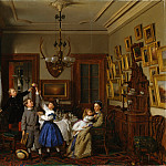 Metropolitan Museum: part 1 - Seymour Joseph Guy - The Contest for the Bouquet: The Family of Robert Gordon in Their New York Dining-Room