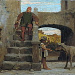 The Fable of the Miller, His Son, and the Donkey, Elihu Vedder