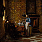 Metropolitan Museum: part 1 - Pieter de Hooch - Leisure Time in an Elegant Setting