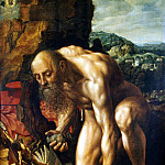 Hemessen, Jan Sanders van. Repentant St. Jerome, part 13 Hermitage