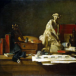 part 13 Hermitage - Chardin, Jean-Baptiste-Simeon. Still Life with Attributes of the Arts