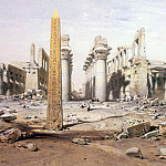 Hildebrandt, Eduard. Kind of ruins of the Temple of Karnak, part 13 Hermitage