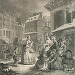 Hogarth, William. Morning. Page 1, part 13 Hermitage