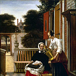 Hooch, Pieter de. Mistress and maid, Pieter de Hooch