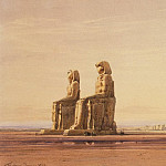 Hildebrandt, Eduard. Statues of Memnon at Thebes background, part 13 Hermitage