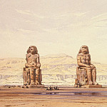 Hildebrandt, Eduard. Statues of Memnon at Thebes, part 13 Hermitage