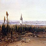 Hildebrandt, Eduard. View of Constantinople by the cemetery, part 13 Hermitage