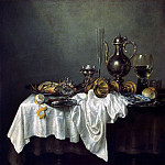 Heda, Willem Claesz. Breakfast with crab, part 13 Hermitage